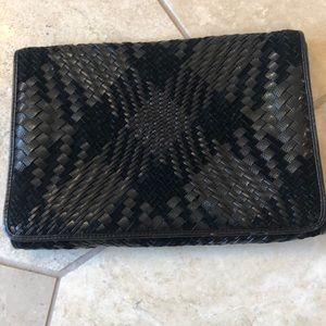 Cole Haan Hatched Leather Clutch